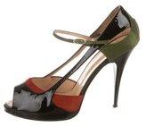 Giuseppe Zanotti Patent Platform Sandals