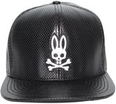 Psycho Bunny Men's Hustle Perforated PU Leather Snapback Hat O/S