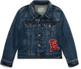 Ralph Lauren 2-6X Embroidered Denim Jacket