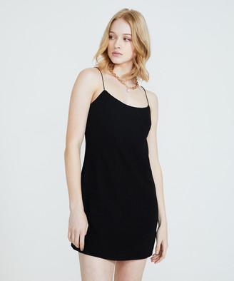 Alice In The Eve Bias Cut Linen Slip Dress Black