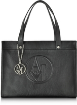 Armani Jeans Black Faux Leather Tote