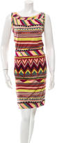 M Missoni Printed Knee-Length Dress
