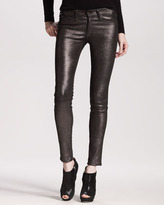 Rag and Bone The Skinny, Anthracite Leather
