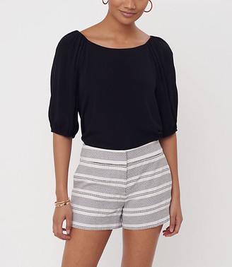 LOFT Stripe Textured Riviera Shorts