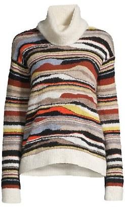M Missoni Mixed Knit Turtleneck
