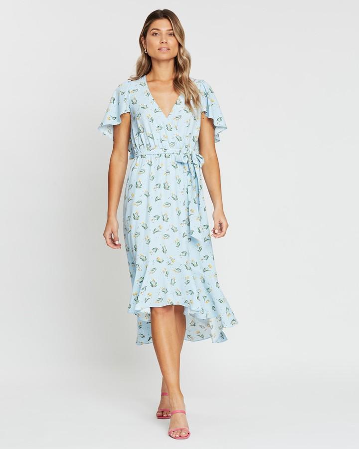 Atmos & Here Jeni Flutter Sleeve Wrap Dress