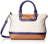 Tignanello Coast To Coast Woven Canvas Convertible Satchel Shoulder Bag
