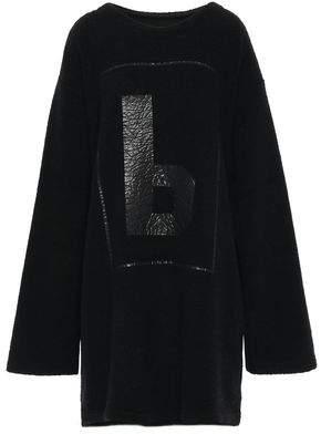 MM6 MAISON MARGIELA Oversized Coated Wool-blend Boucle Mini Dress