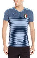 Puma Men's Figc Italia Azzurri Henley Tee