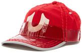 True Religion Two-Tone Coated Wool Blend Baseball Cap
