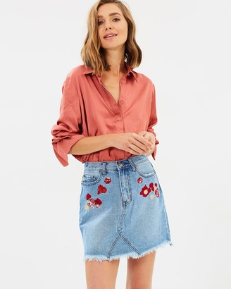 The Fifth Label Asta Embroidered Skirt