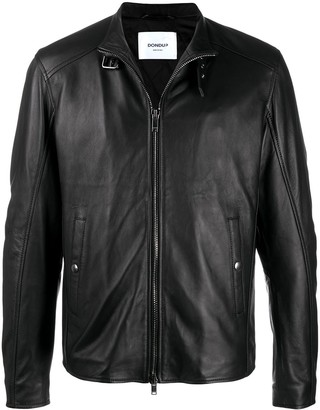 Dondup Buckled Collar Leather Jacket