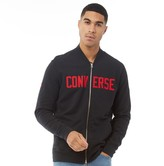 Converse Mens Essentials Graphic Bomber Jacket Black