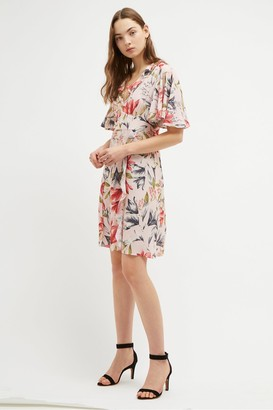 French Connection Cadencia Crepe Short Floral Dress