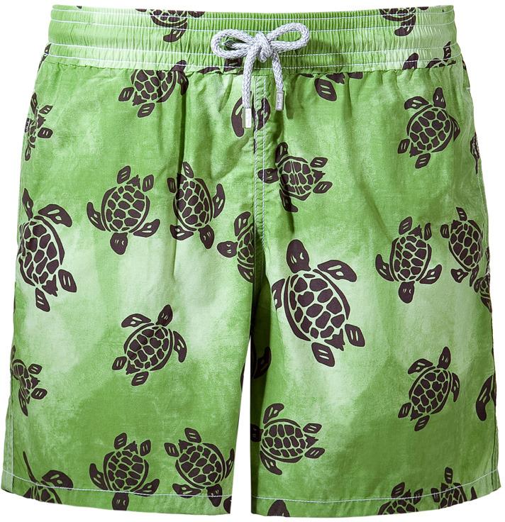 Vilebrequin Green Turtle Print Trunks