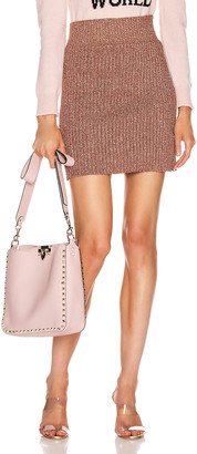 Alberta Ferretti Shiny Mini Skirt in Pink | FWRD