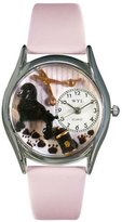 Whimsical Watches Women's S0630005 Dog Groomer Pink Leather Watch