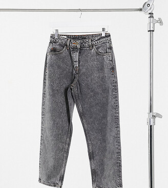 Collusion x005 Petite straight leg jeans in washed black