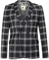 Topman NOOSE & MONKEY Black and White Check Suit Jacket