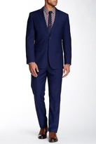English Laundry Navy Sharkskin Two Button Notch Lapel Suit