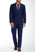 English Laundry Navy Sharkskin Two Button Notch Lapel Suit