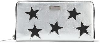 Stella McCartney Stars Metallic Faux Textured-leather Continental Wallet