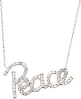 Susan Hanover CZ Pave Peace Necklace