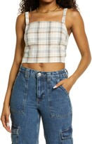 Thumbnail for your product : BP Plaid Crop Tank