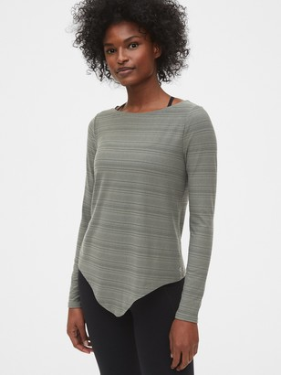 Gap Gapfit Breathe Knot-Front Long Sleeve T-Shirt