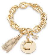 RJ Graziano C Initial Chain-Link Charm Bracelet