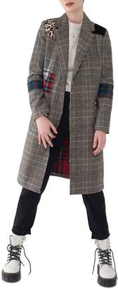 NVLT Patchwork Plaid Coat