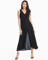 White House Black Market Black Overlay Jumpsuit