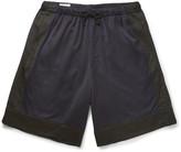 Dries Van Noten Piers Wide-Leg Two-Tone Satin Shorts