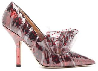 Midnight 00 Antoinette Polka-dot Tulle & Pvc Pumps - Womens - Black Red
