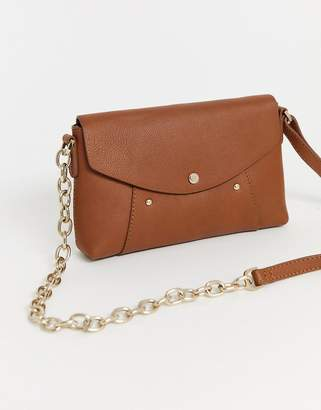 Paul Costelloe real leather small tan cross body bag