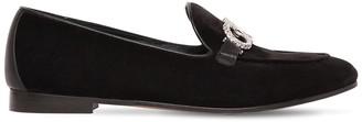Salvatore Ferragamo 20mm Trifoglio Embellished Velvet Loafer
