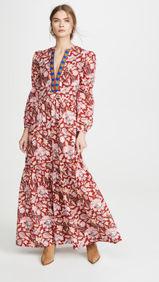 Bohemia Alix Of Paradise Bird Block Print Dress