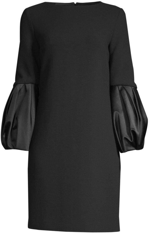 Michael Kors Duchesse Balloon Sleeve Shift Dress