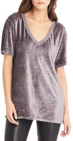 Michael Stars Velour V Neck Top