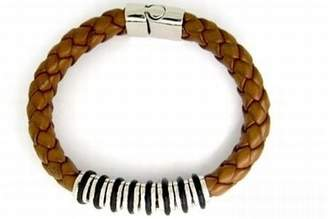 Camilla And Marc CORED c25 Bracelet Leather with Stainless Steel Elements Light Brown 21 cm
