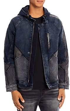 True Religion Dylan Hooded Denim Jacket