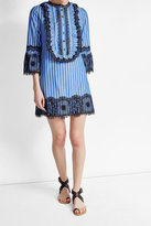 Anna Sui Striped Dress with Lace Detail