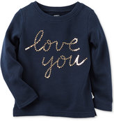 Carter's Sequin Love You Top, Toddler Girls (2T-4T)