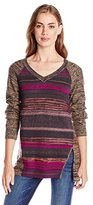 Nanette Lepore Women's Striped Merino Wool Pullover Sweater
