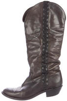 Golden Goose Deluxe Brand Embroidered Knee-High Boots