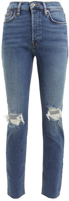RE/DONE High-Rise Ankle Crop Jeans