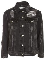 Topshop Moto extreme ripped denim jacket