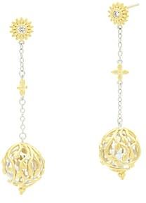 Freida Rothman Fleur Bloom Linear Ball Drop Earrings
