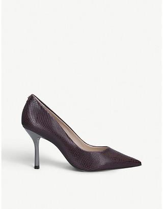 Carvela Achievement snake-print leather court shoes