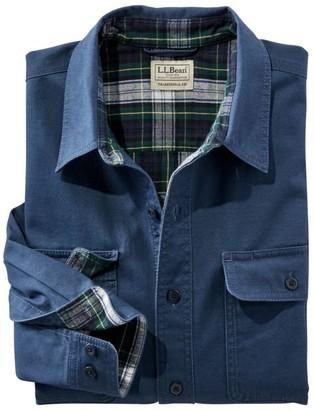 L.L. Bean Men's Flannel-Lined Hurricane Shirt
